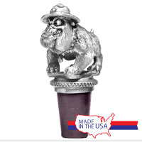 Bottle Stopper: Marine Bulldog (Pewter)