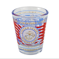Shot Glass: Marine Corps Bull Dog (small)