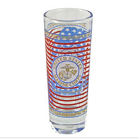 Shot Glass: Marine Corps Bull Dog (large)
