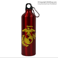 Water Bottle: Marine Corps EGA (Red)