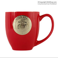 Mug, Ceramic: EGA Gold Foiled Red Bistro Mug