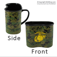 Mug, Ceramic: Canteen Shaped Woodland Digi w/EGA