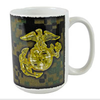Mug: Woodland Camo with EGA