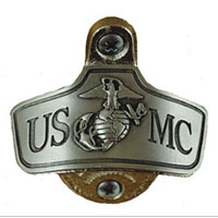 Bottle Opener: USMC (Mounted)