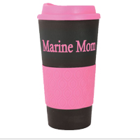 Travel Mug: Marine Mom Black & Pink Grab-N-Go Mug