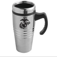 Travel Mug Black Ega On Stainless Steel
