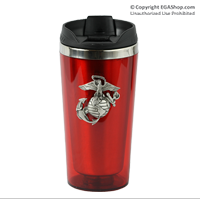 Thermal Mug, Stainless Steel, Red with Pewter EGA