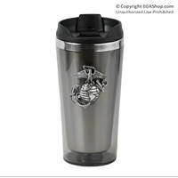 Thermal Mug, Stainless Steel, Smoke-color with Pewter EGA