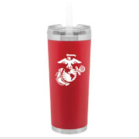 Travel Mug: Brooklyn Red Insulated Tumbler with White EGA
