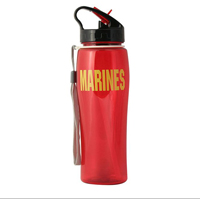 Water Bottle: Red Water Bottle with Marines