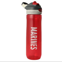 Water Bottle: Red Contigo Water Bottle with Marines