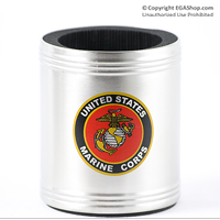 Koozie, Can: Marine Corps Seal (full color on stainless steel)