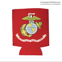 Koozie, Can: Marine Corps Flag (on red)