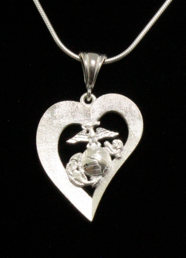 Necklace, Marine Heart Design
