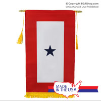 Z Service Flag, (Blue Star Banner) 1 Star (Made in the USA)