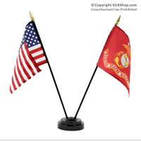 Flag, Desktop Set: Marine Corps and US Flags