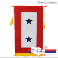 Service Flag, (Blue Star Banner) 2 Star (Made in the USA)