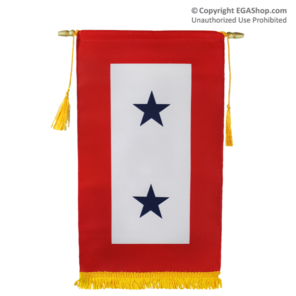 Service Flag, (Blue Star Banner) 2 Star (Made in USA!)
