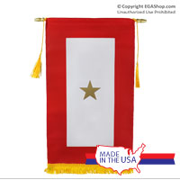 Service Flag, (Gold Star Banner - Made in the USA)