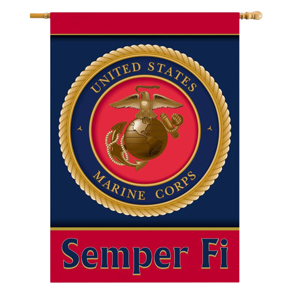 Garden Banner, Double-Sided: USMC Seal (28 x 40)