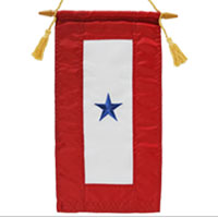 Service Flag, (Blue Star Banner) 1 Star (Embroidered)