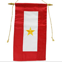 Service Flag, (Gold Star Banner - Embroidered)