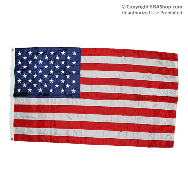 Flag, American: 3x5 Nylon, Embroidered (Made in USA!)