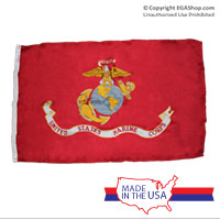 Flag, Marine Corps: 3x5 Nylon, Made in the USA