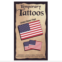 Temporary Tattoo: US Flag