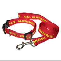Collar: w/ Dog Leash: US Marines