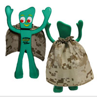Figurine Accessory: Desert Camo Cape for Semper Gumby