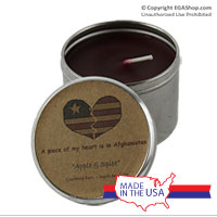 Candle, Deployment: Heart Afghanistan (tin)
