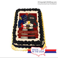 Cake Topper: Happy Birthday Marines Past and Present