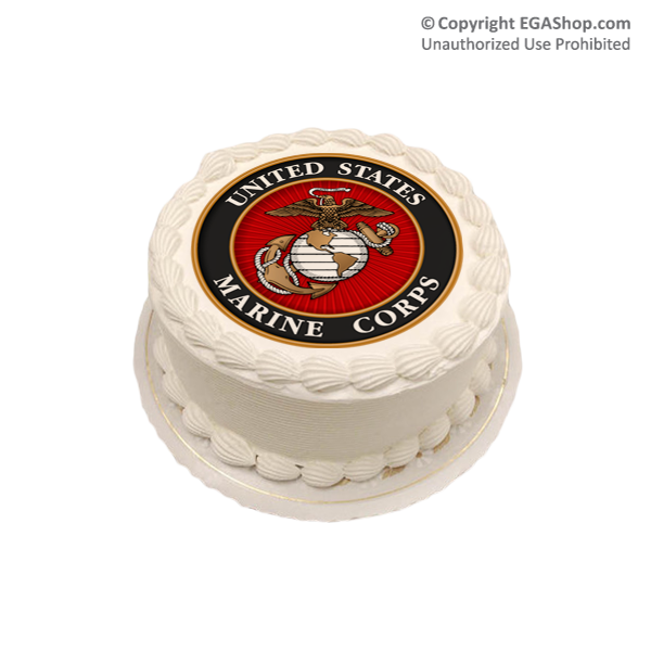 Cake Topper Marine Corps Seal