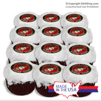 Cake Topper: Cupcake Marine Corps Seal (set of 12)