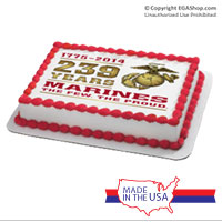 Cake Topper: 2014 Marine Corps Birthday