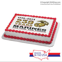 Cake Topper: 2014 Marine Corps Birthday (imperfect)