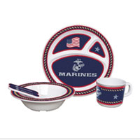 Children's Dish Set: Marine Corps (5 pieces)