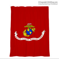Shower Curtain: Likeness of Marine Corps Flag