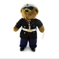 Plush: Marine Corps Bear in Dress Blue Uniform (10 Inch)