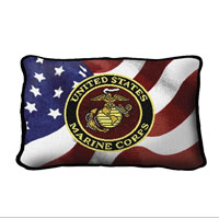 Marine Corps Logo Throw Pillow