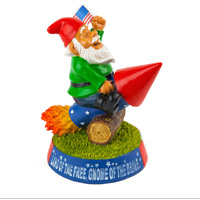 Garden Gnome: Stars and Stripes Rocket