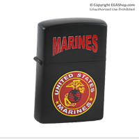 Lighter: Red Marines & EGA (on Black)