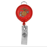 Badge Holder: Retractable Name Badge Holder with EGA