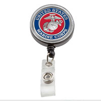 Badge Holder: Marine Corps Badge Reel