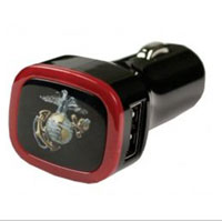 USB Car Charger, USMC