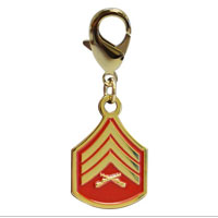 Pet Insignia Rank Charm - SGT