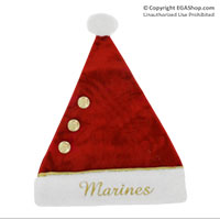 Cover: Marines Santa Clause Hat (Red Velvet)