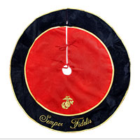 _Tree Skirt: Semper Fidelis with EGA