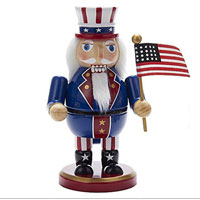 Nutcracker: 8'' Wooden Uncle Sam